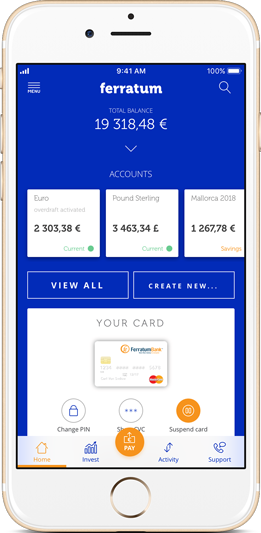 Open a Free European Bank Account | Ferratum Bank